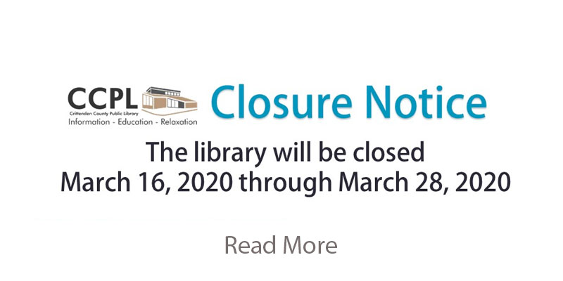 Library closed through March 28, 2020